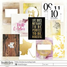 Source: Natali Design: Hello October Collection, freebie