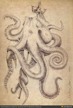speared octopus