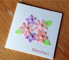 201.カーラクラフトのお花のパンチで5cm×5cm大のミニカード Diy And Crafts, Paper Crafts, Quilled Creations, Mothers Day Cards, Punch Art, Handmade Decorations, Flower Cards, Scrapbook Cards, Origami