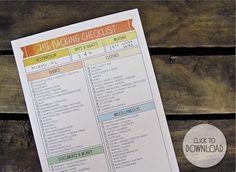Free printable packing checklist by morgan