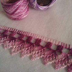 Photo: Work nº 22 - Dish cloth with crochet hook. Thread Crochet, Crochet Trim, Love Crochet, Crochet Motif, Crochet Doilies, Crochet Yarn, Crochet Flowers, Crochet Hooks, Crochet Border Patterns