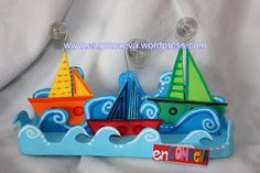 Photo frames colors Boats  ---  Portafotos barcos de colores