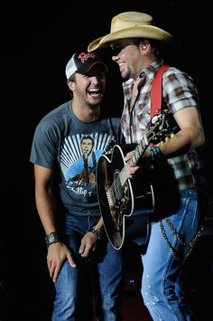 Jason Aldean With Luke Bryan In Concert..