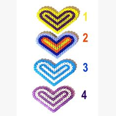Choose from 4 Pattern Colors! Shop & Save on every item in shop. Stop on over & browse anytime. BEAD MAGNET  Heart  Blue & White  Purple  by CreativeXpression1, $4.50