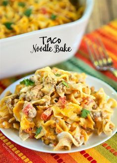 Taco Noodle BakeReally nice recipes. Every hour.Show me what you  Mein Blog: Alles rund um die Themen Genuss & Geschmack  Kochen Backen Braten Vorspeisen Hauptgerichte und Desserts # Hashtag