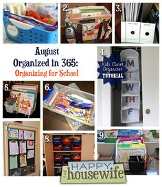 August Organized in 365: Organizing for School