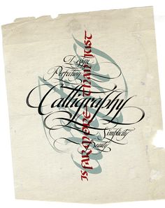 CALLIGRAPHY •༄• Calligraphy is Far More Than Just Writing... Design, Perfection, Simplicity, Beauty