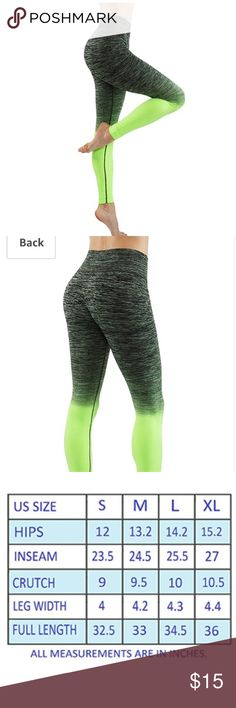Light weight ombré pants size small Lightweight exercise pants for women's. It is flexible to wear and multi-color. For workout sport and Yoga, it is a must have product. It provides top quality performance and provides ease in movement. These are worn but still in good condition. Pants Leggings