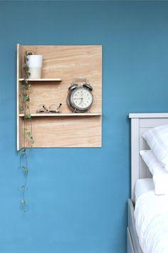 DIY plywood bedside shelves with Gorilla Glue