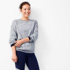 Fleece-lined sweatshirt