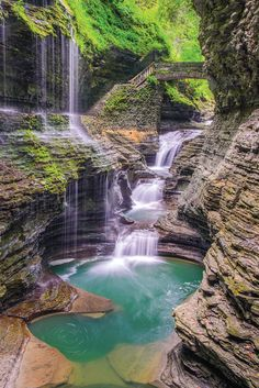 Waterfall magic at New York's Watkins Glen State Park