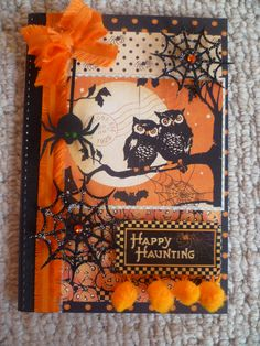 Halloween card using Graphic45 Happy Haunting Papers