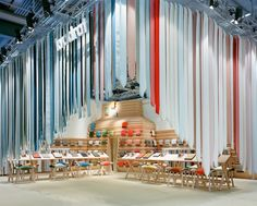 the picnic by raw edges - textile installation made of 1500 kvadrat straps #exhibit #booth