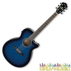 Guitarra Electroacústica Ibanez Color Azul Sombreado