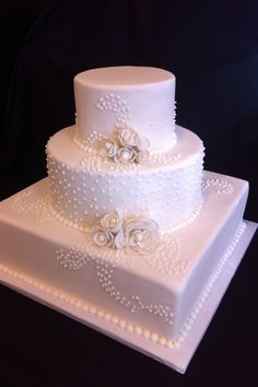 White wedding. Created by Short North piece of cake Columbus, Ohio.