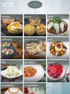 #tabletmenu #hamptons #ipadmenu #menu #menudesign #restaurantideas #food #dubai Cold Drinks, Beverages, Digital Menu, Breakfast Quiche, Kids Menu, Salad Sandwich, Menu Design, Cooking Time, The Hamptons