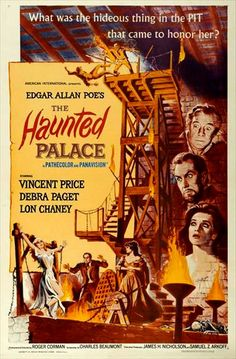 THE HAUNTED PALACE (Roger Corman, 1963) is a tribute to two great writers of tales of horror: Lovecraft and Poe. Inspired by them, this film creates a unique story that borrows a bit of both.  The performance of Price and Karloff is excellent, the plot keeps pace throughout the film, the characters are well described and the special effects are pretty good for the time period that this film was made.