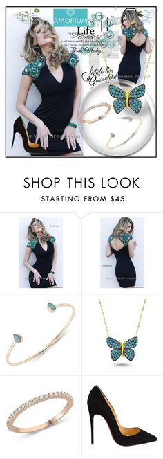 """""""Amorium.com"""" by lip-balm ❤ liked on Polyvore featuring Sherri Hill, Amorium, Christian Louboutin, women's clothing, women, female, woman, misses and juniors"""