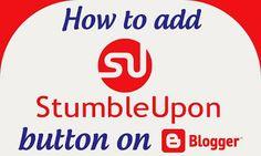 Add StumbleUpon button on blogger