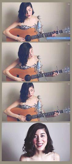 Daniela Andrade, covering La Vie En Rose on YouTube. Hair super gorgeous.