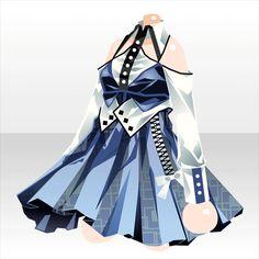 上半身/インナー ジーガーコルセットワンピAブルー Dress Drawing, Drawing Clothes, Anime Outfits, Girl Outfits, Anime Dress, Dress Sketches, Fairy Dress, Fashion Design Sketches, Other Outfits