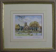 http://www.bramptonpictureframinggallery.co.uk/page/artists  Watercolour of Hartford Church by Fred Betteridge. Framed by Brampton Framing. Available to view in our gallery. £42   65 High Street Brampton Huntingdon Cambridgeshire England PE28 4TQ