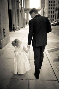Precious photo of groom and his little girl... I want one with my 2 girls holding daddy