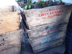 Champagne grape carriers from Northern France in this spring!   #ashersantiques #antiques #France www.ashersantiques.com
