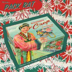 For the... Pack Rat - Random Crap Tin Cigar Box $14.99