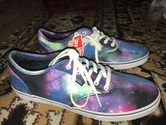 8f2c88880a4 Vans Cosmic Galaxy Size 9  fashion  clothing  shoes  accessories   unisexclothingshoesaccs