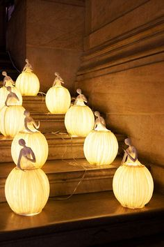 Something quite interesting...Incredible Sculptures/Lamps entirely made of paper by Sophie Mouton-Perrat and Frédéric Guibrunet from Paris, France.