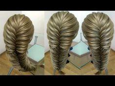 Коса рыбий хвост Воздушная коса Очень просто Hair tutorial Курс плетения кос - YouTube