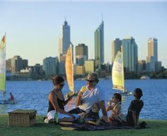 Picnic by the swan river banks