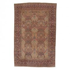 "Antique Kerman Wool Rug - 13'5""x20'3"""