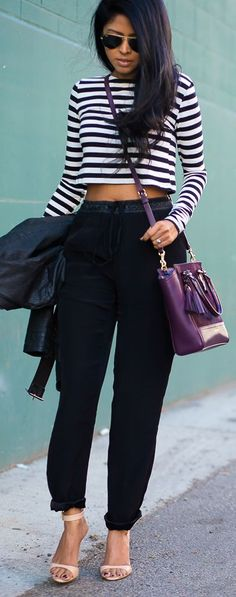 The grown up way to wear a crop top! #StyleChat #Style