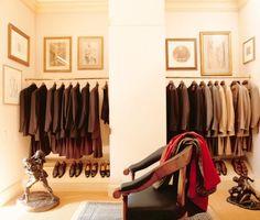 Bill Blass' dressing room NYC Photo: Pieter Estersohn