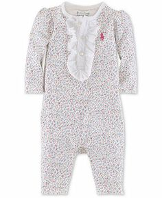 Ralph Lauren Baby Coverall, Baby Girls Floral Jumpsuit