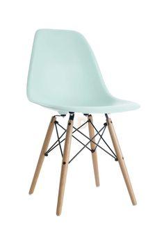 Charles Eames Style DSW Eiffel Stuhl Plastik Mintgrün, 79.  U2026