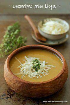 Caramelized onion bisque | www.yankeekitchen...
