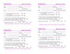 Satin Hands Survey Form   Eye Bundles  Mary Kay