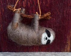 Your place to buy and sell all things handmade Peace Dove, Felt Christmas Ornaments, Wool Felt, Felted Wool, How To Make Ornaments, Sloth, Needle Felting, Handmade Items, Creatures