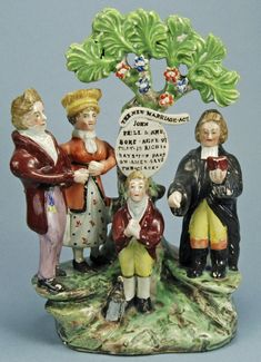 Staffordshire Figurines - A figure from 1823 celebrating the passage of England's New Marriage Act, which prevented annulment for minor reasons.