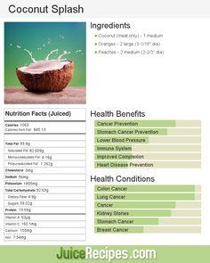 Coconut Splash | Juice Recipes