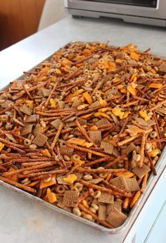 """For some reason homemade bits and bites always seems like a Christmas time treat. Which is a bit weird because there is really no """"Chri. Christmas Snacks, Christmas Cooking, Christmas Time, Xmas, Snack Mix Recipes, Cooking Recipes, Trail Mix Recipes, Bits And Bites Recipe, Yummy Appetizers"""