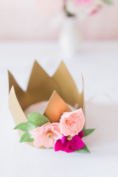 Princess crown from a Whimsical Floral Princess Party via Kara's Party Ideas   KarasPartyIdeas.com - The Place for All Things Party! (28)