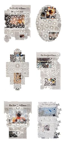 News Paper lace  -  Cut papers by Donna Ruff