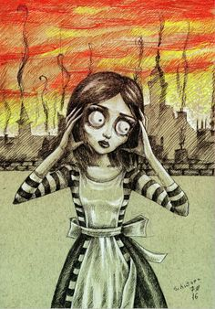 Alice in style Tim Burton <3>>>>actually it's from Alice madness returns