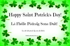 Want to wish someone a Happy St Patrick's Day in the native language of Ireland? Of course, you do! After all, Saint Patrick must have spoken Irish, or he would not have been able to spread his gospel to the native people he was trying to convert. The following phrases are perfect for March 17th, when everybody gets to be Irish for a short time--just remember to practice the words BEFORE you head out to the pub.