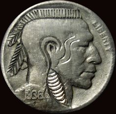 Mohawk Nickel (altered Indian Head)