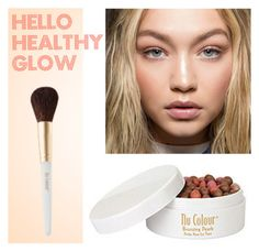 A healthy glow in with Nu Color Bronzing Pearls from Nuskin. Bronzing Pearls, Nu Skin, Polyvore Fashion, Glow, Make Up, Healthy, Bossbabe, Makeup, Beauty Makeup